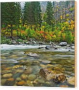 Wenatchee River Wood Print by Dan Mihai