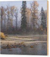 Wenatchee River, Fall 2015 Wood Print