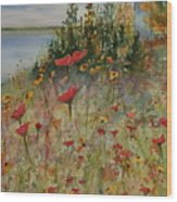 Wendy's Wildflowers Wood Print