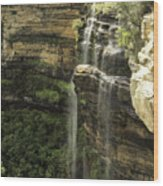 Wentworth Falls Wood Print