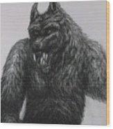 Werewolf Wood Print
