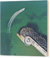 West Bay Pier Head Wood Print