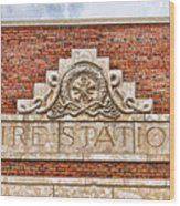 West Bottoms Fire Station Terracotta Dwc Wood Print