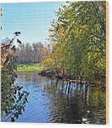 West Branch Iowa River Wood Print