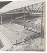 West Bromwich Albion - The Hawthorns - Brummie Road End 1 - Bw - 1960s Wood Print