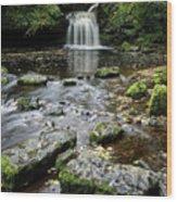 West Burton Falls, Yorkshire, England Wood Print