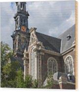 West Church Westerkerk Wood Print
