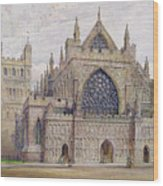 West Front, Exeter Cathedral Wood Print