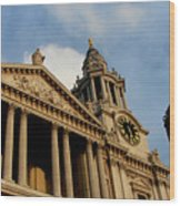 West Front Of St.paul's Cathedral, London Wood Print
