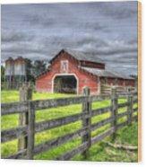West Georgia Barn Wood Print