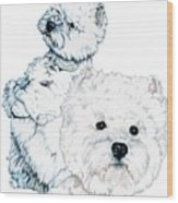 West Highland White Terriers Wood Print