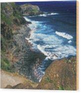 West Maui Coast Wood Print