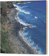West Maui Coast Overview Wood Print