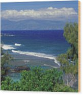 West Maui Ocean View Wood Print