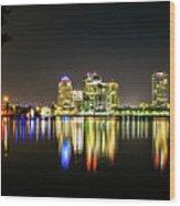West Palm Beach Downtown Panoramic Wood Print