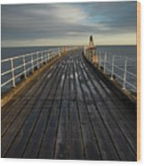 West Pier, Whitby, England Wood Print