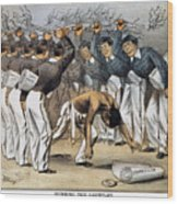 West Point Cartoon, 1880 Wood Print by Granger