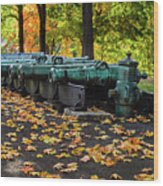 West Point Fall Leaves Wood Print