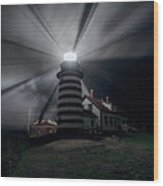West Quoddy Head Lighthouse History And Facts Wood Print