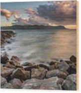 West Shore Sunset Wood Print