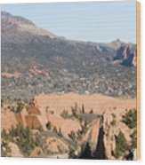 West Springs And Distant Garden Of The Gods Wood Print