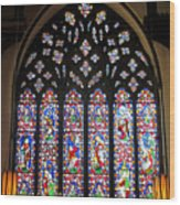 West Stained Glass Window Christ Church Cathedral 1 Wood Print