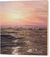 West Sunset Romantic Wood Print