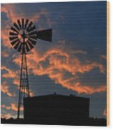 West Texas Cattle Tank Wood Print