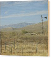 West Texas Ranch Scene II Wood Print