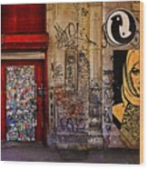 West Village Wall Nyc Wood Print by Chris Lord