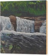 West Virgina Water Falls Wood Print