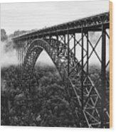 West Virginia - New River Gorge Bridge Wood Print by Brendan Reals