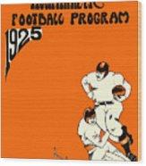 West Virginia 1925 Football Program Wood Print