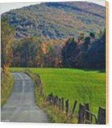 West Virginia Autum On Sandy Ridge Wood Print