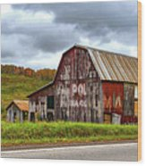 West Virginia Barn Wood Print
