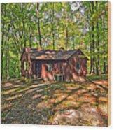 West Virginia Cabin Wood Print