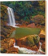 West Virginia Falls Wood Print