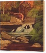 West Virginia Grist Mill Wood Print