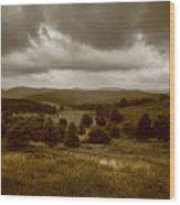 West Virginia Overcast Wood Print
