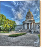 West Virginia State Capitol Building No. 2 Wood Print