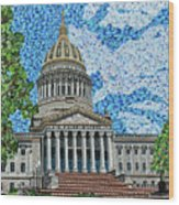 West Virginia State Capitol Wood Print