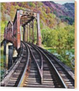 West Virginia Trestle Wood Print