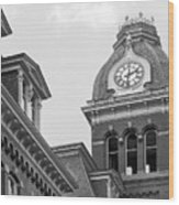 West Viriginia University Clock Tower Wood Print