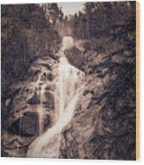 West Waterfall Wood Print