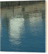 West Wharf Reflections I Wood Print