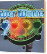 Wet Willie's Bar Wood Print