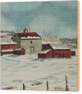 West Winfield Farm Wood Print