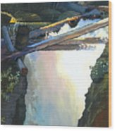 West Yaak Falls Wood Print