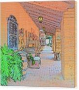 Western Alley Drawing 1 Wood Print