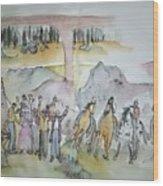 Western Art My Way.album  Wood Print